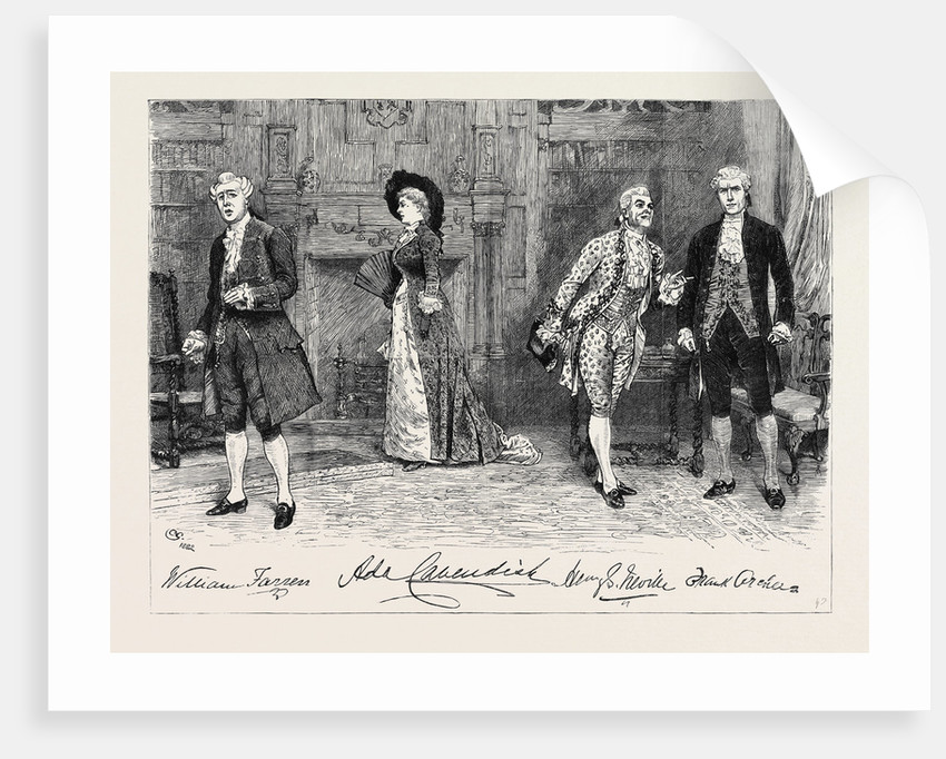 The School for Scandal at the Vaudeville Theatre: The Screen Scene by Anonymous