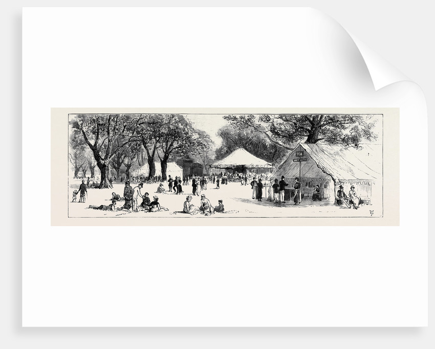 The Queen's Visit to Epping Forest: The Refreshment Booths in the Forest by Anonymous