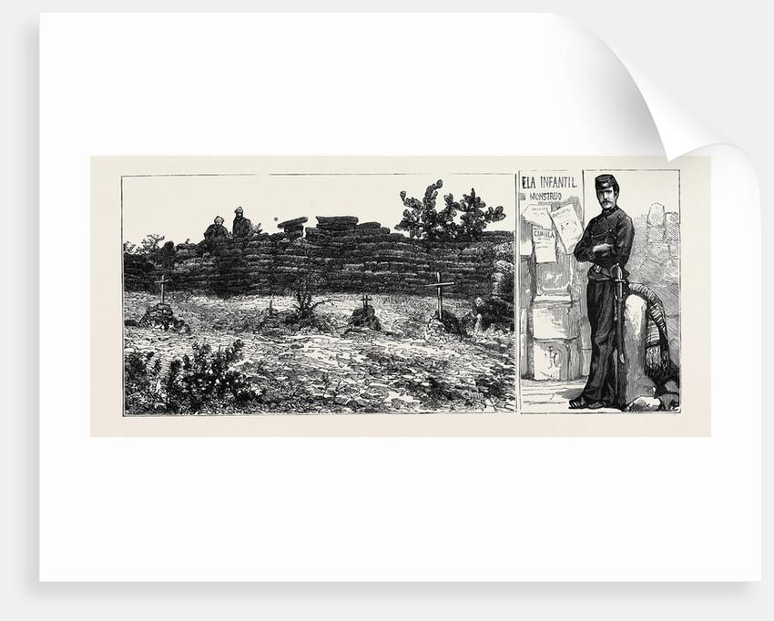 Mexico: Cerro Las Campañas, Where the Emperor Maximilian and Generals Mejia and Miramon Were Shot, June 19, 1869; Policeman by Anonymous
