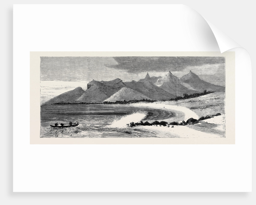 The Coast Off Black River: Pieter Botte in the Distance, Mauritius by Anonymous