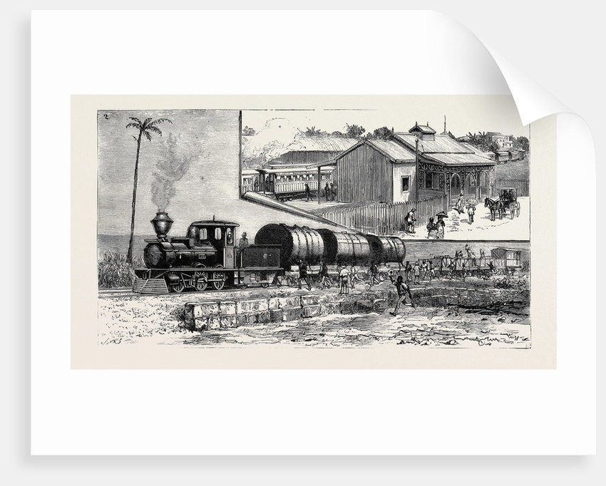 The New Railway at Barbadoes, British West Indies by Anonymous