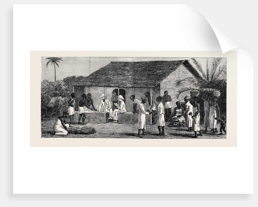 The Slave Trade on the East Coast of Africa: Released Slaves on the Universities' Mission Estate at Mbweni Near Zanzibar, Paying Wages by Anonymous