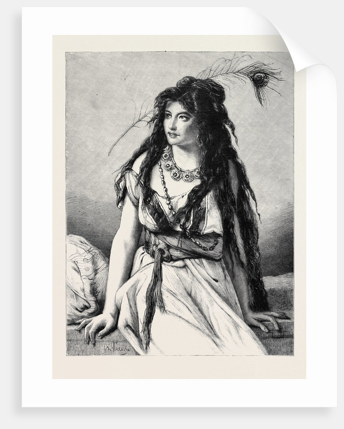 Rosa, a Gipsy Girl from a Drawing by J.F. Portaels by Anonymous