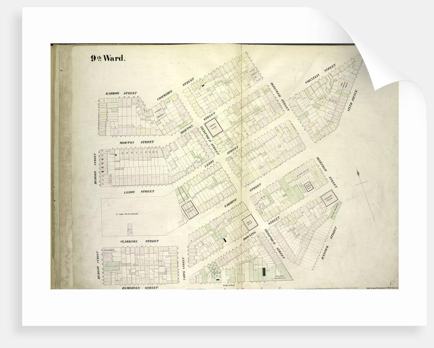 Map bounded by Barrow Street, Commerce Street, Bleecker Street, Cornelia Street, Sixth Avenue, Hancock Street, Hamersly Street, Hudson Street, New York by Anonymous