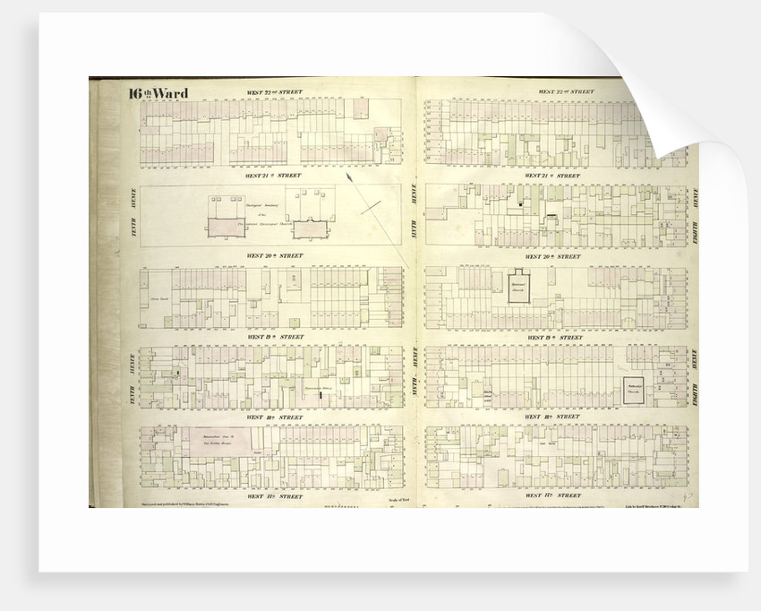 Map bounded by West 22nd Street, Eighth Avenue, West 17th Street, Tenth Avenue, New York by Anonymous