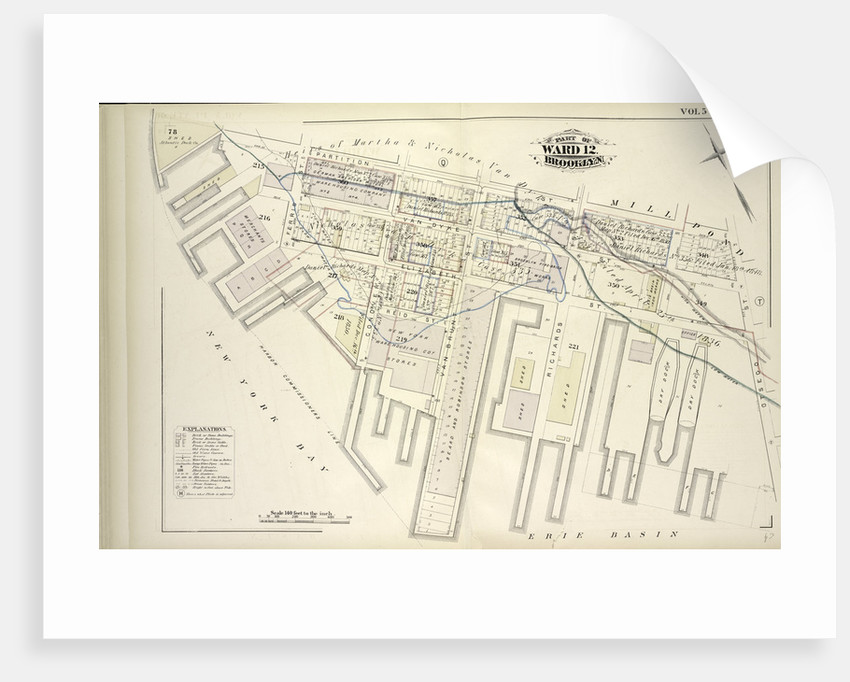 Map bound by Partition St., Otsego St., Erie Basin, New York Bay; Including Van Dyke St., Elizabeth St., Reid St., Ferris St., Conover St., Van Brunt St., Richards St., New York by Anonymous