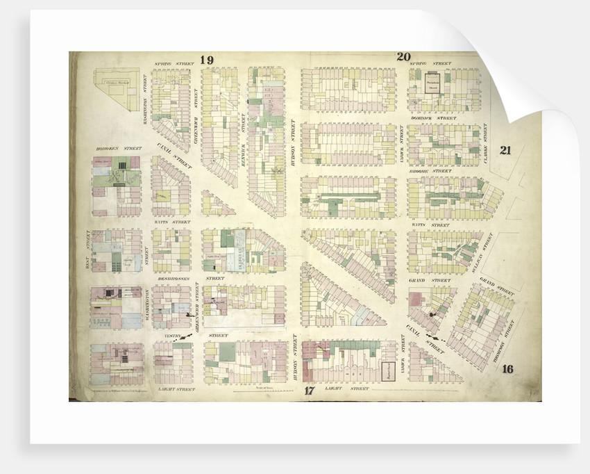 Map bounded by Spring Street, Clarke Street, Sullivan Street, Grand Street, Thompson Street, Laight Street, West Street; Including Canal Street, Dominick Street, Broome Street, Watts Street, Desbrosses Street, Grand Street, New York by Anonymous