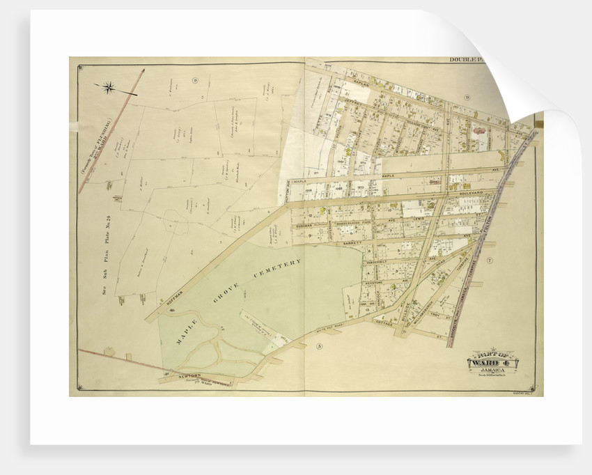 Map bounded by Kaplan Ave., Pette Ave., Jeffrey Ave., Hutton Ave., Maple Ave., Haffman Blvd., Sussman Ave., Jefferson Ave., Barrett Ave., Vanderbilt Ave., Keystone Ave., Oak., New York by Anonymous