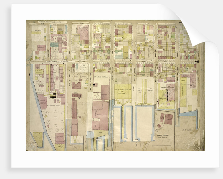 Map bounded by Wythe Ave., North 6th St., East River, Kent Ave; Including North 12th St., North 11th St., North 10th St., North 9th St., North 8th St., North 7th St., New York by Anonymous