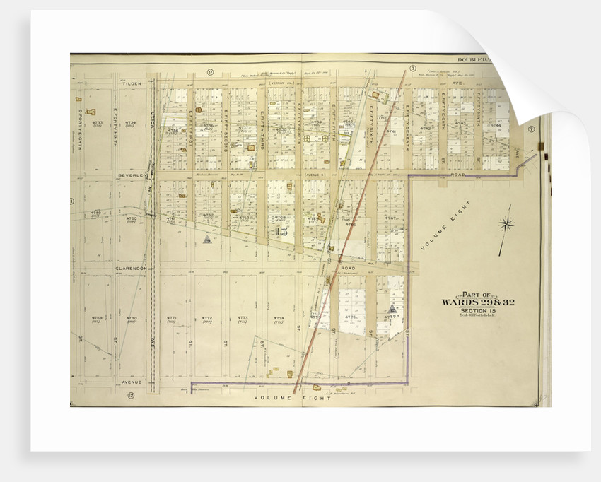 Map bounded by Tilden Ave., Ralph Ave., Beverley Road Avenue B; Including E. 57th St., Avenue D, E. 48th St., New York by Anonymous