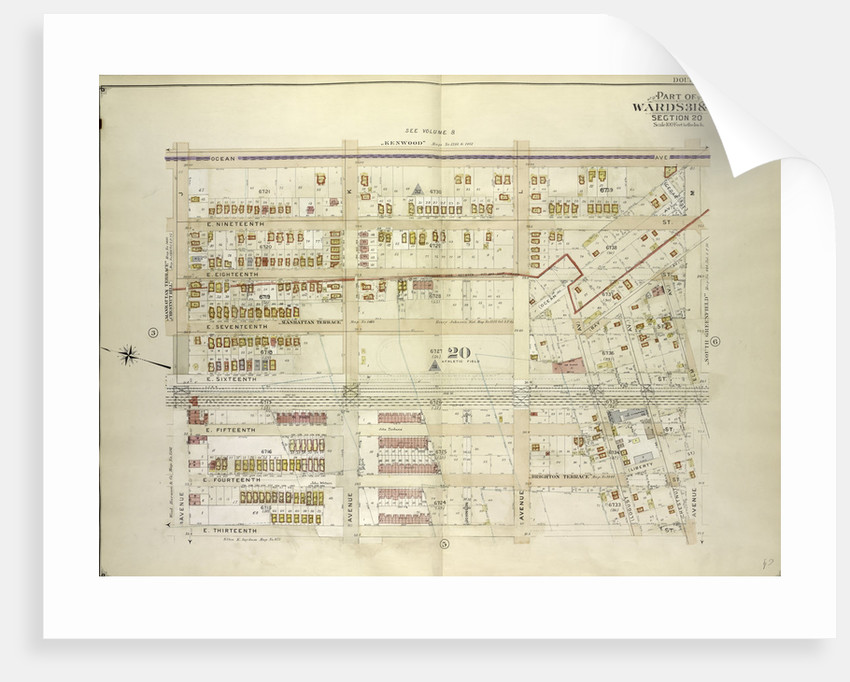 Map bounded by Ocean Ave., Avenue M; Including E. 13th St., Avenue J., New York by Anonymous