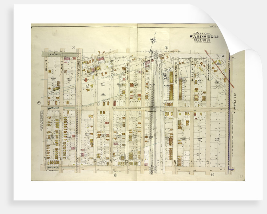 Map bounded by Avenue M, Ocean Ave; Including Avenue O, E. 9th St., New York by Anonymous