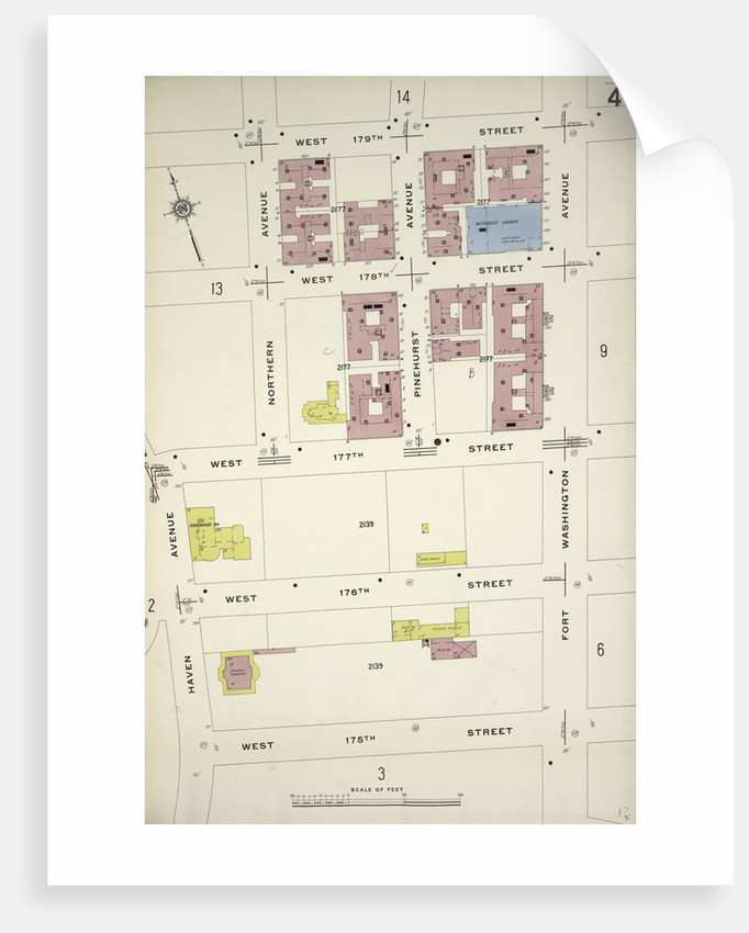 Map bounded by W. 179th St., Fort Washington Ave., W. 175th St., Haven Ave., New York by Anonymous