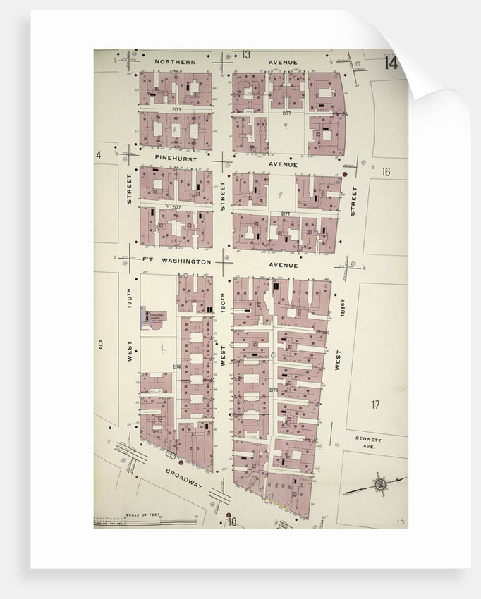 Map bounded by Northern Ave., W. 181st St., Broadway, W. 179th St., New York by Anonymous