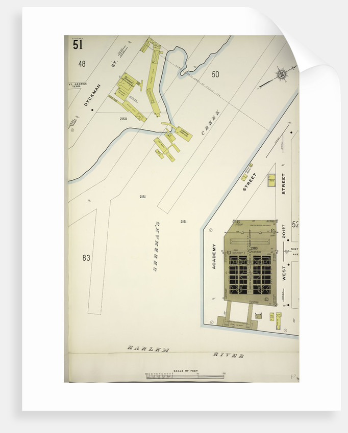 Map bounded by Dyckman St., W. 201st St., Harlem River, New York by Anonymous