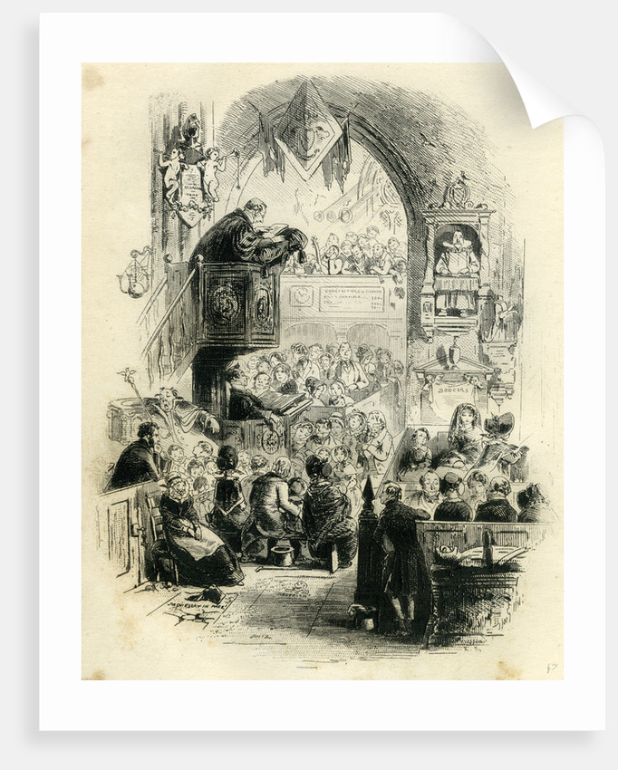 David Copperfield 'Our Pew at Church' by Anonymous