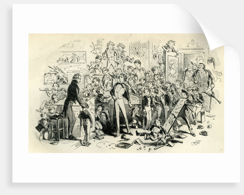 David Copperfield 'Steerforth and Mr. Mell' by Anonymous
