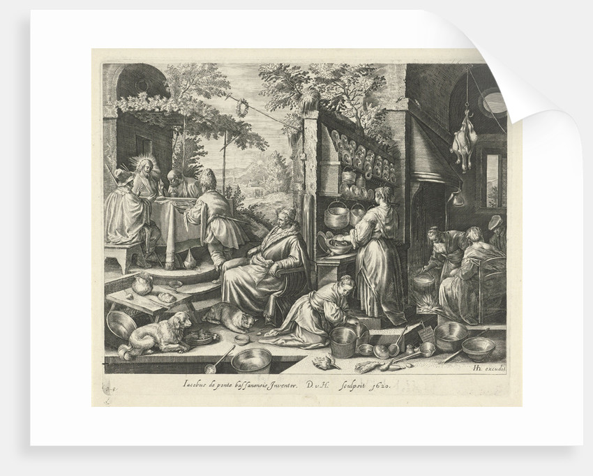 Meal at Emmaus by Hendrick Hondius I