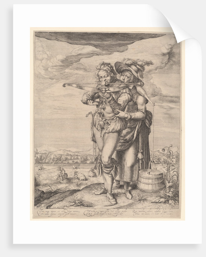 Archer and milkmaid by Nicolaes de Clerck