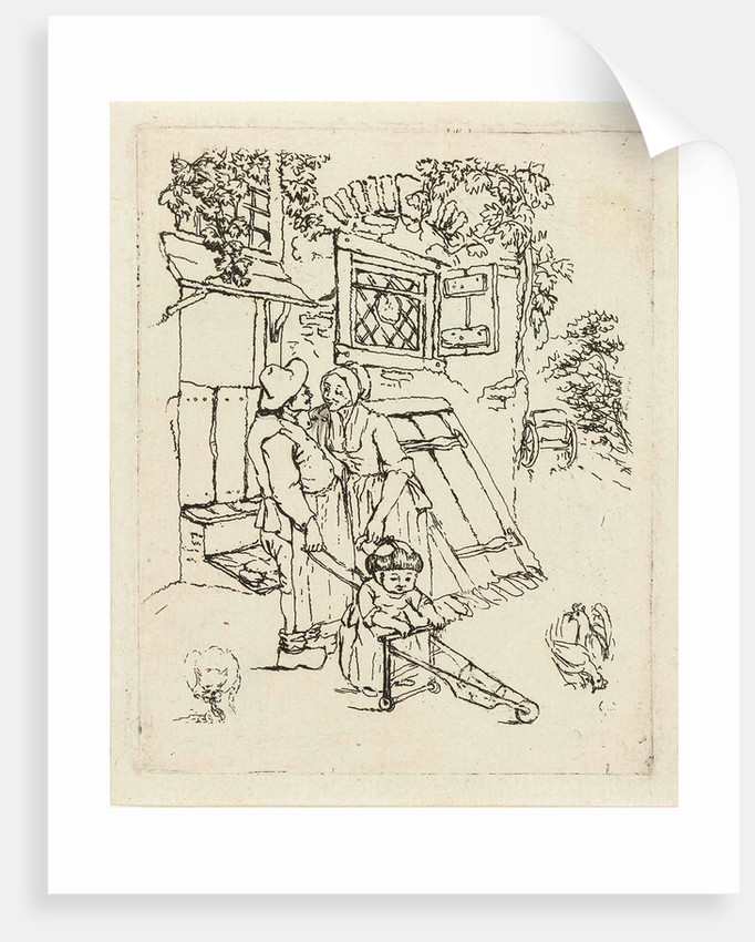 Farmer and his wife with child for a house by Marie Lambertine Coclers