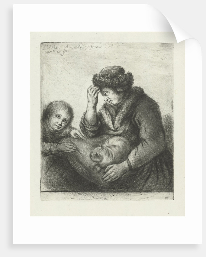 Mother with child by Jan Chalon