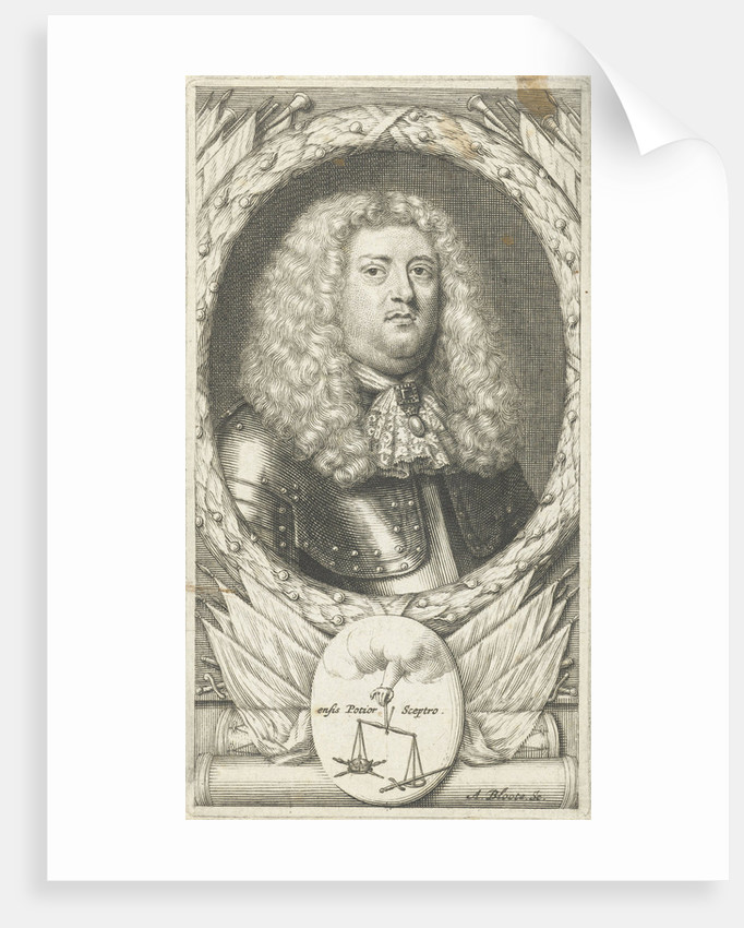 Portrait of an unknown man in armor by Anonymous