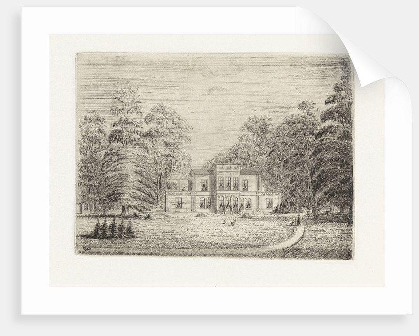 View of a country estate in Baarn by Pieter Cornelis Nicolaas van de Poll