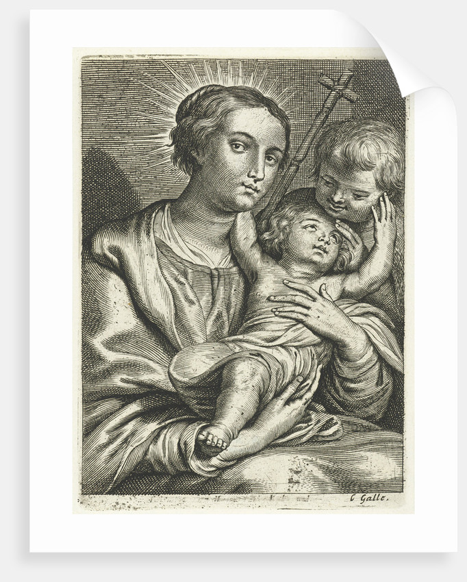 Virgin and Child with Saint John the Baptist by Cornelis Galle II