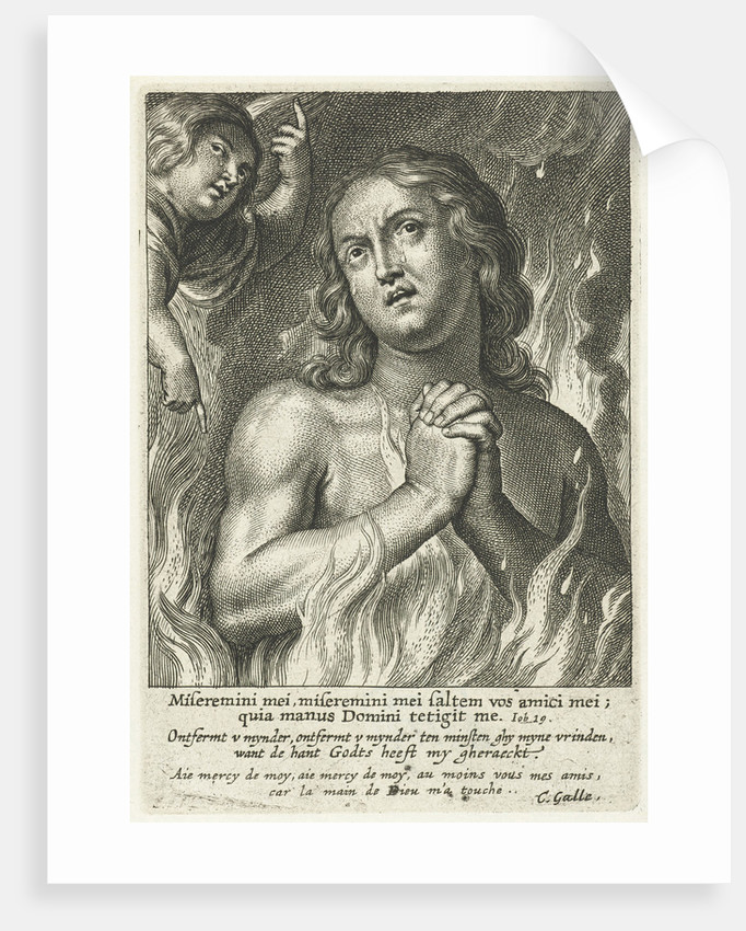 soul in purgatory pray for mercy by Cornelis Galle II