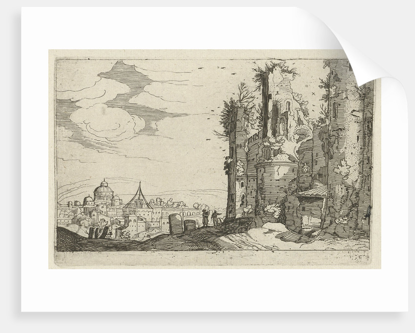 View of Rome from Monte Pincio by Anonymous