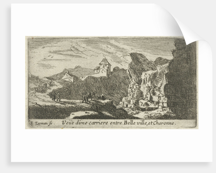 View of a quarry between Belleville and Charonne by Reinier Nooms