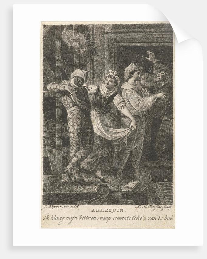 Harlequin on the scene by Lambertus Antonius Claessens