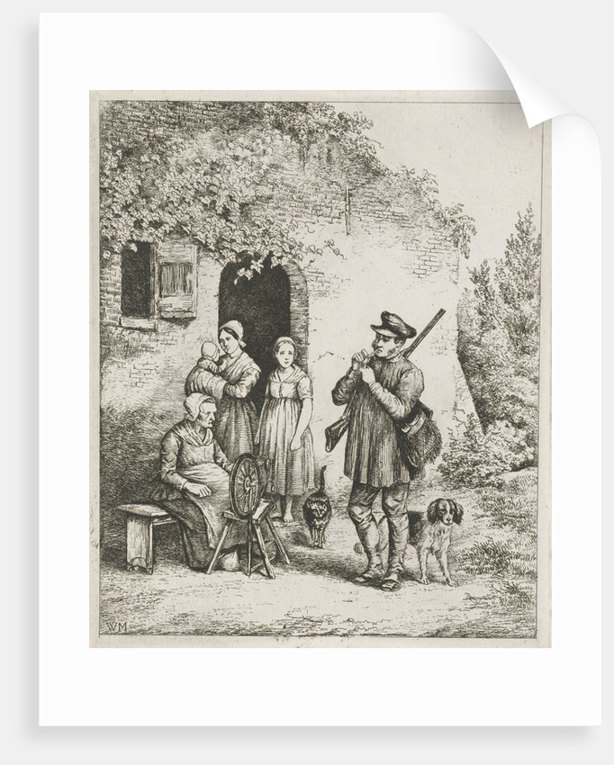 Society for the door of a house by Christiaan Wilhelmus Moorrees