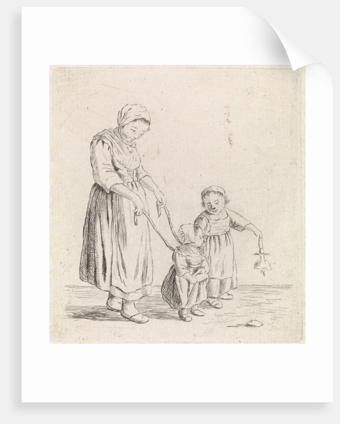Woman with child on leash by Christina Chalon