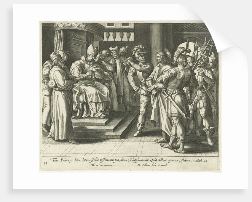 Christ before Caiaphas by Maerten de Vos