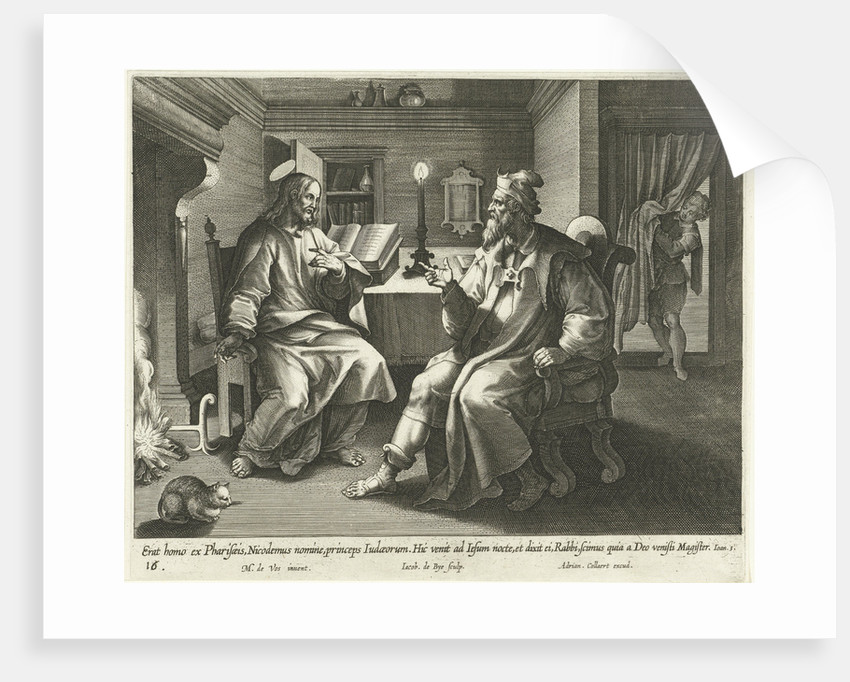 Conversation with Nicodemus by Adriaen Collaert