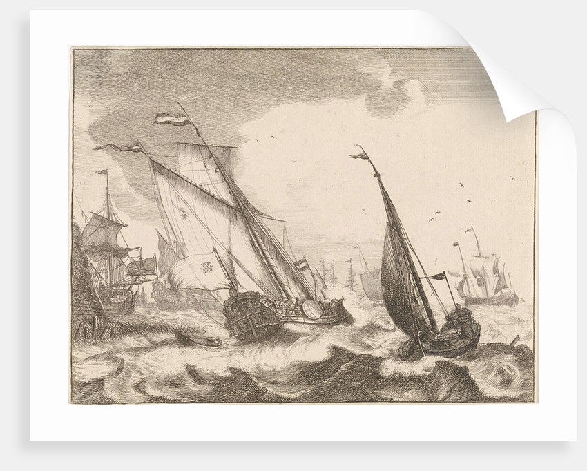 Ships at sea by Ludolf Bakhuysen