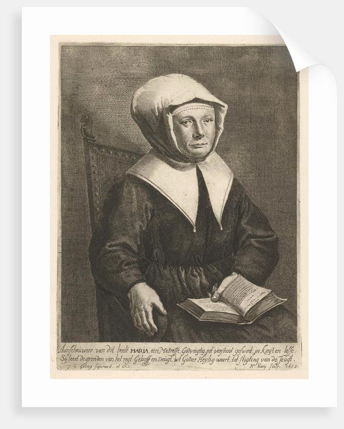 Portrait of Mary the religious teacher by Jan van Gotingh