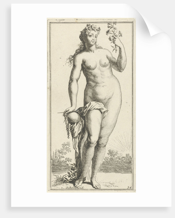 Personification of beauty by Arnold Houbraken
