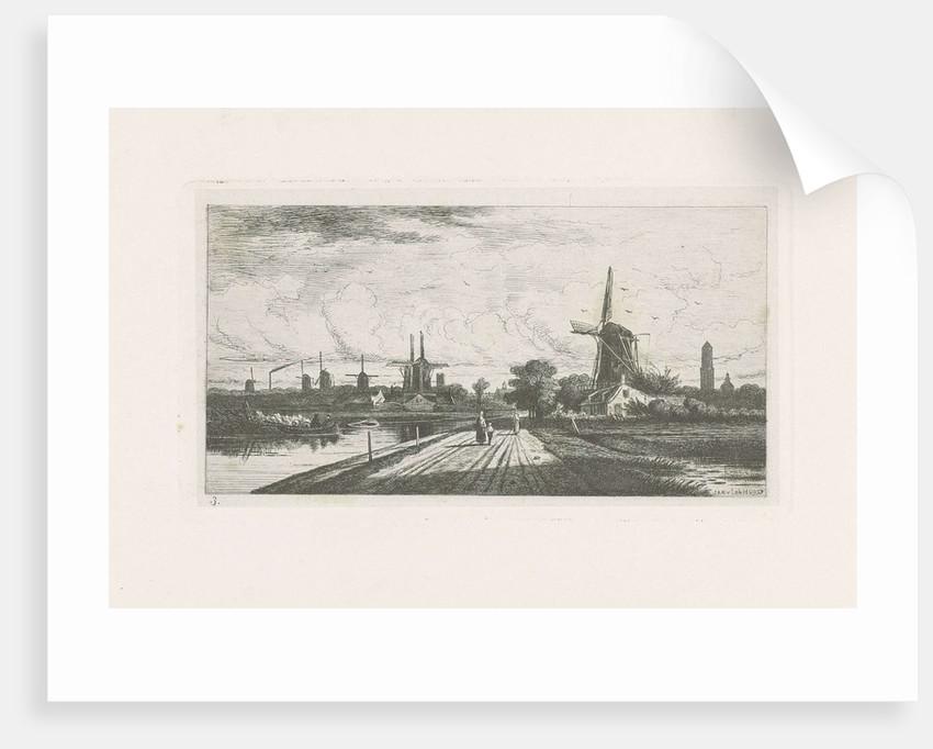 Landscape with windmills by Jan van Lokhorst