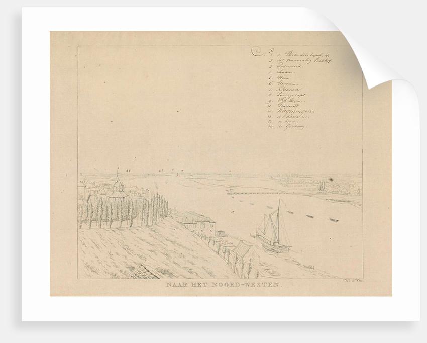 View of the Valkhof and Waal northwest of Nijmegen by Derk Anthony van de Wart