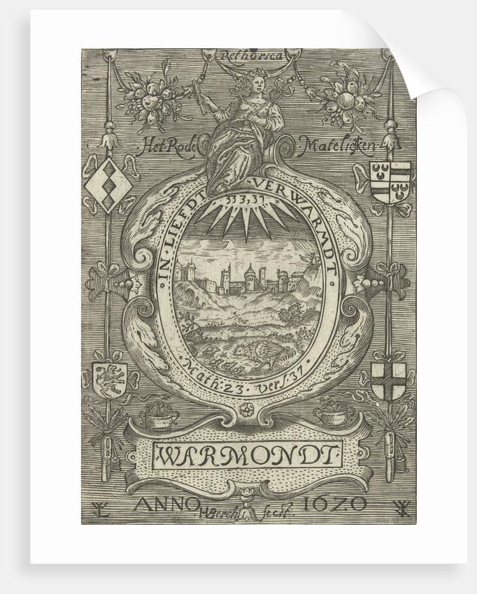 Blazon of the Chamber of Rhetoric Red Daisy in Warmond by H. van den Berck