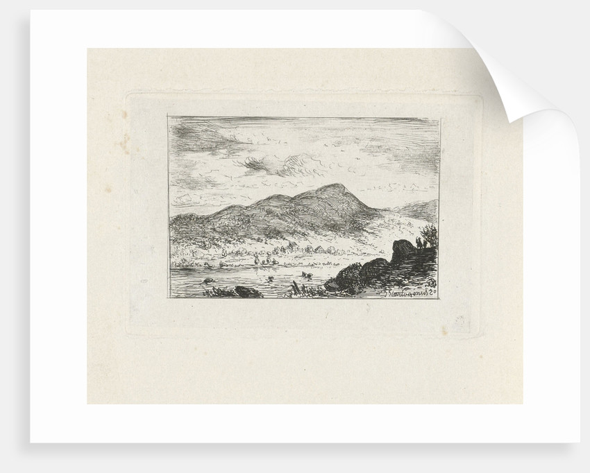 River in a mountain landscape by Joseph Hartogensis