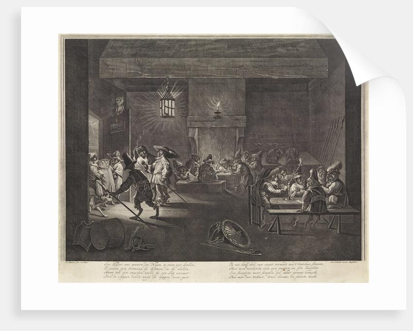 Room with monkeys by Leonard Schenk