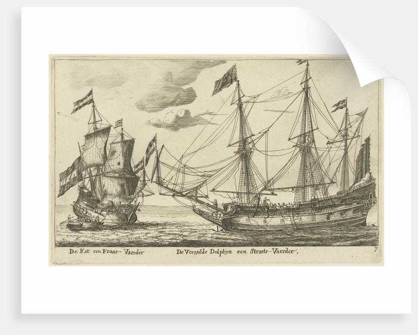 The ships Vergulde Dolfijn and De Kat by Anonymous