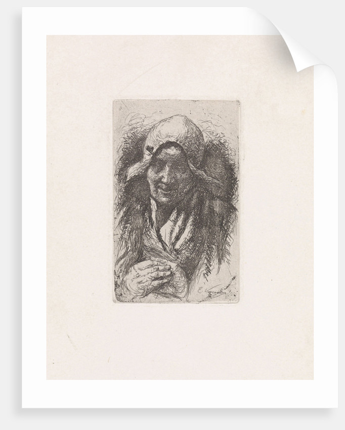 Peasant woman with folded hands by Elchanon Verveer