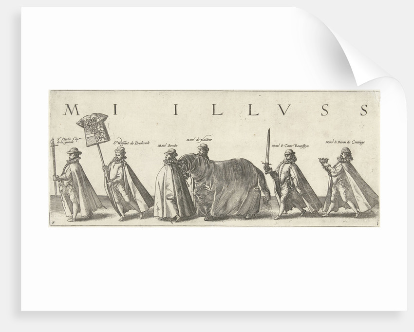 Funeral procession of William of Orange, page 8 by Willem Janszoon Blaeu