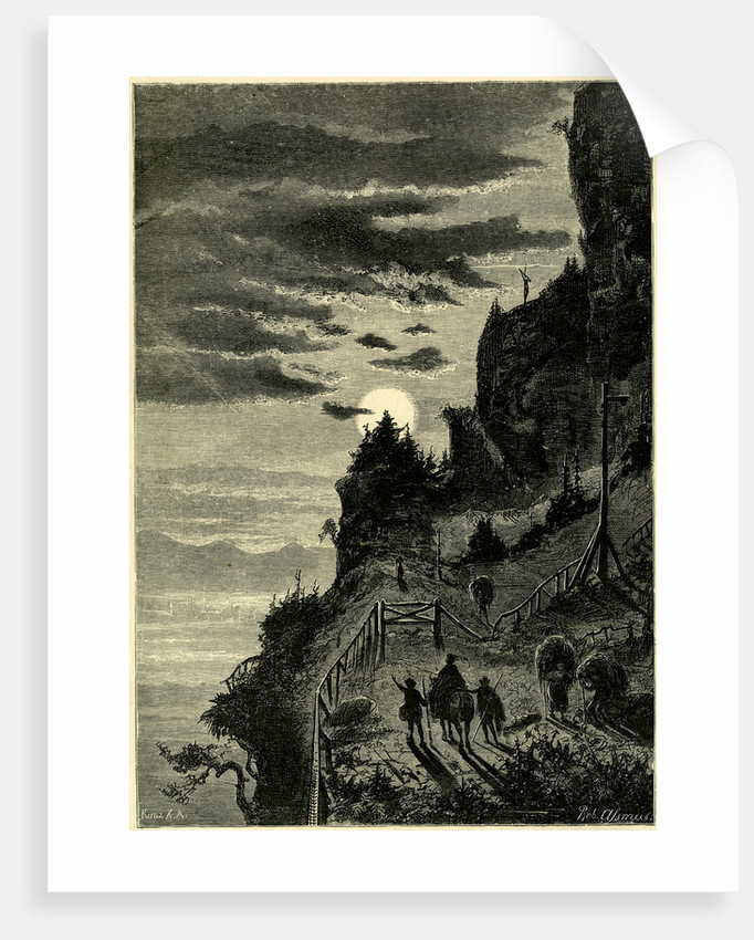 Night Ascent of the Rigi Switzerland by Anonymous