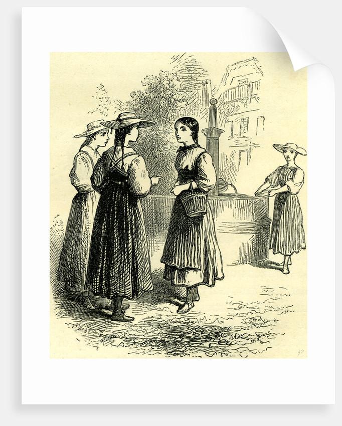 Costume of Swiss Girls Switzerland by Anonymous
