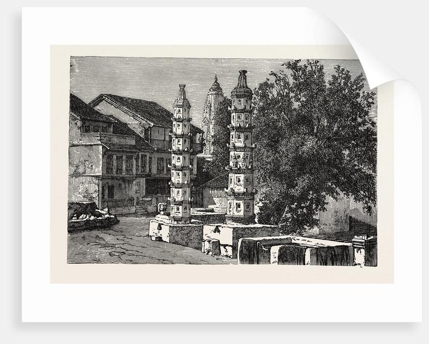 A Hindoo Pagoda at Malabar Hill, Near Bombay, India by Anonymous